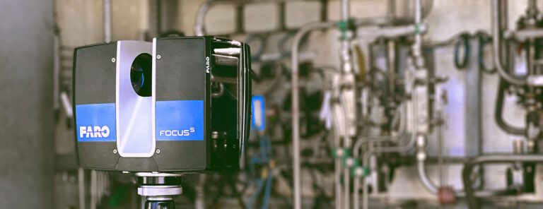 Laser scanning of industrial facilities and machines